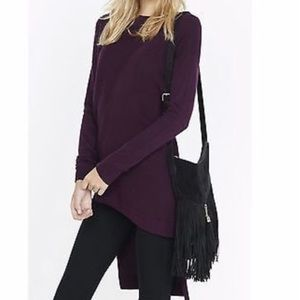 Express Ribbed Asymmetrical High Low Tunic